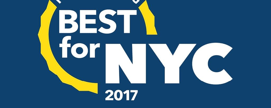Logo for 2017 Best for NYC Campaign